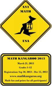 Math Kangaroo 2013 poster